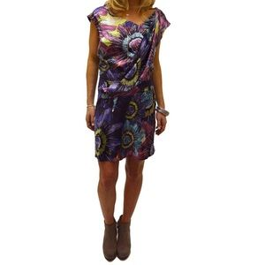 Ali Ro Floral Print Silk-Blend Cocktail Dress 12